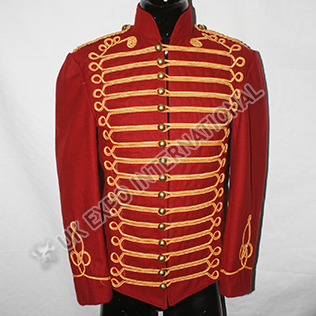 Men Red wine color hussar jacket