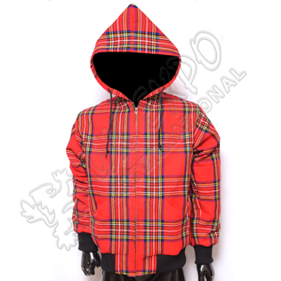 Mens Royal Stewart Tartan Hooded