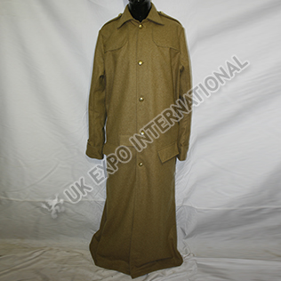 Military khaki long Great Coat