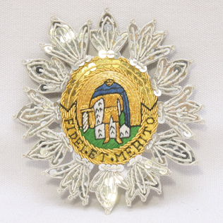 NELSON ORDER OF ST FERDINAND MERITO Hand Embroidery Badge
