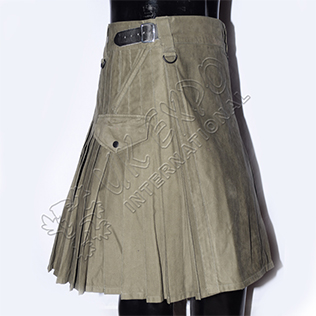 New 4 pockets Hiking kilt Olive Green Utility Kilt