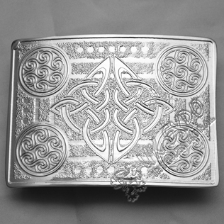 Chrome Celtic Round Buckle