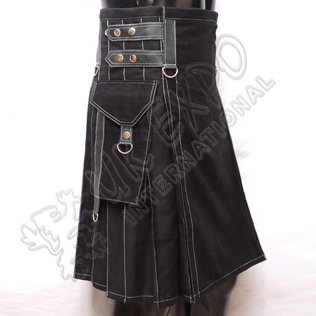New Style Black Heavy Duty Utility Kilts