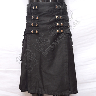 Hybrid Two-Tone Black Utility Kilts