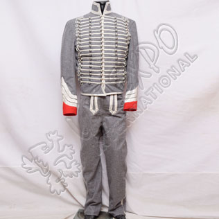 Officer Dolman Hussar Gray Wool Uniform
