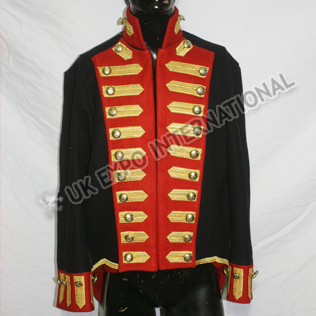 Officer jacket Black Color with Golden Braid