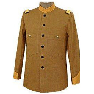 OFFICERS FATIGUE BLOUSE BROWN CANVAS DUCK