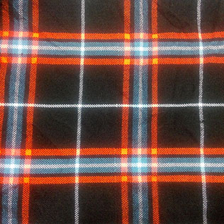 Orange,White,Black and Grey Color tartan