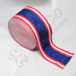 Peaks, Visors & Ribbons White Red Royal Blue