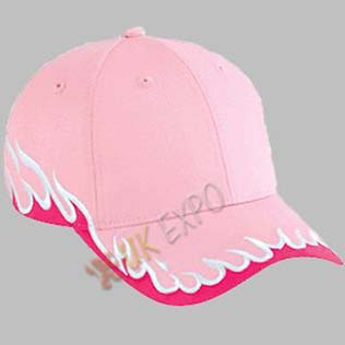 Pink Color P Cap