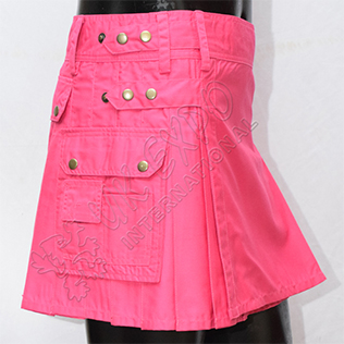 Pink Girl Utility Kilt four straps and three pockets