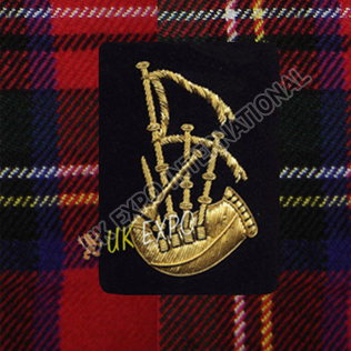 Pipe Major Insignia Gold & Black