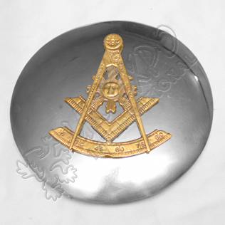 Masonic Badge With Plaid Brooch