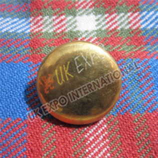 Plain brass button