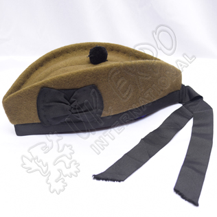 Plain WW1 Canadian Khaki Glengarry Hat Khaki without dicing