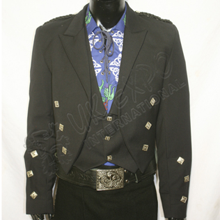 Prince charlie jacket and vest in dark blue and black