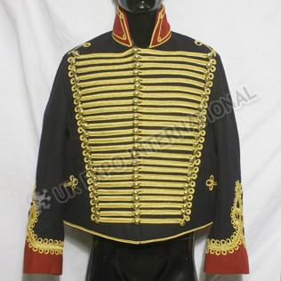 Prussian hussard de la mort officers uniform Dark Blue Jacket