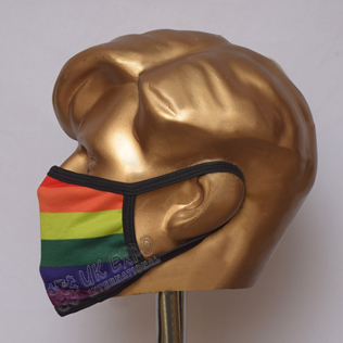 Rainbow Flag Sublimated Cotton Mask