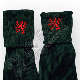 Rampart Lion Embroidery on Kilt Socks