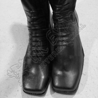 Real Leather WWII German British USA Army Military Tall Boots