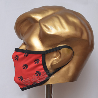 Red And Black Stylish Sublimated Cotton Mask