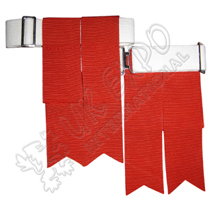 Red Color Garter Flashes With Adjustable Buckle