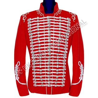 Red military parade band jacket