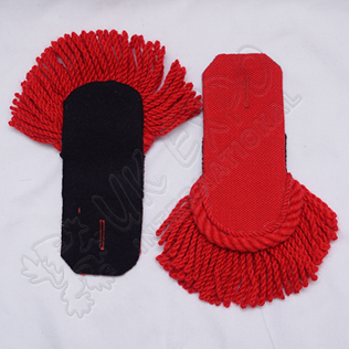 Red Wool Shoulder/Epaulette pair