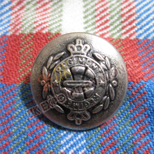 Regmental Crown Antique Buttons