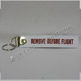 Remove Before Flight Tag Key Chain