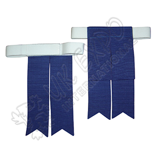 Royal Blue Color Kilt Flashes