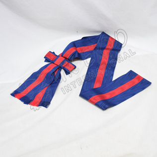 Royal Blue With Red Color And Bow Sash
