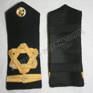 ROYAL NAVY SHOULDER BOARDS 1 strips  Gold Wire Braid