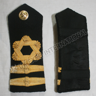 ROYAL NAVY SHOULDER BOARDS 2 strips  Gold Wire Braid