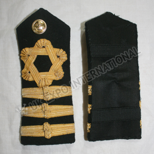 ROYAL NAVY Shoulder/Epaulette BOARDS 3 strips Gold Wire Braid
