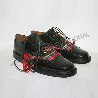 Royal Stewart Tartan PVC shine in Black Color With ruber sole