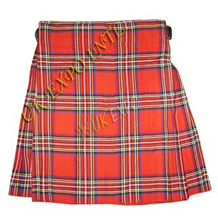 Royal Stewart Tartan Straight Pleats Kilt