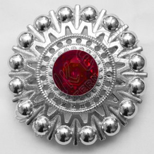 Ruby Stone Brooche