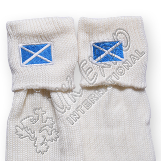 Scotland Flag Embroidary on Kilt Sock