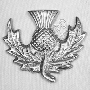 Scotthish Thistle Metal Badge