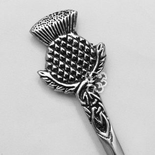 Scottish & Celtic Kilt Pin with Black Color Filling