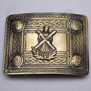 Scottish Bronze Celtic Design Buckle With ST Andrews Badge