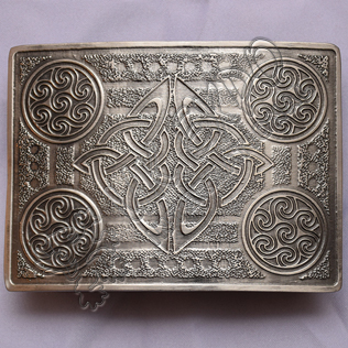 Scottish Celtic Design Brass Antique Kilt Buckle