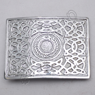 Scottish Celtic Design Chrome Buckle
