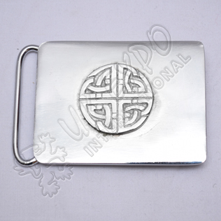 Scottish Celtic Design Kilt Buckle Chrome Finish