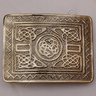 Scottish Celtic Design Shiny Antique Kilt Buckle