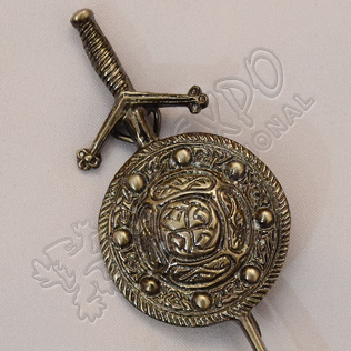 Scottish Celtic Design Shiny Antique Kilt Pin