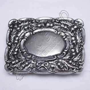 Scottish Dress Kilt Buckle With Black Color Filing