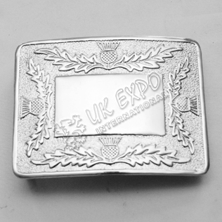 Scottish Flower Buckle Mirror Finish