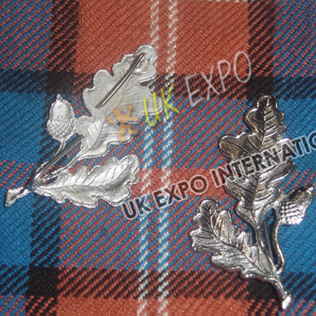 Scottish Flower Metal Badge